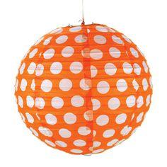 Orange Polka Dot Lanterns