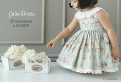 Dress for the girl master class. Baby Dress Patterns, Baby Clothes Patterns, Sewing Patterns For Kids, Sewing For Kids, Clothing Patterns, Baby Harem Pants, Sewing Clothes, Flower Girl Dresses, Fashion Outfits