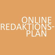 ONLINE REDAKTIONSPLAN