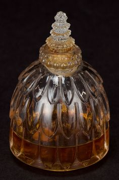R. LALIQUE CLEAR GLASS FORVIL NARCISSE PERFUME BOTTLE 1929