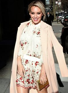 Spotted: Out and about in NYC, Hilary Duff wears the Zimmermann Sakura Embroidery Dress from upcoming Summer Swim 16. First arrivals are instores and online from late March.