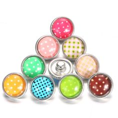 Cheap snap jewelry, Buy Quality 12mm snap jewelry directly from China 12mm snap Suppliers: 10pcs/lot Mix Colors 12mm snap jewelry Glass Dome Cabochon Dot Points Snap For 12mm snap jewelry Bracelet