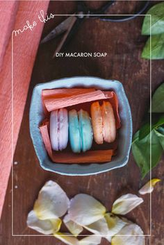 macaron soap - DIY tutorial for a great gift idea; how cute would these be in a glass jar with a ribbon?