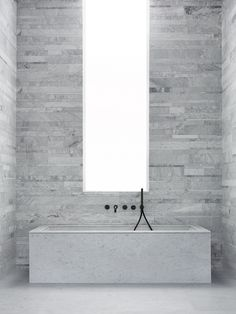 Vasca da bagno rettangolare in marmo OYSTER By SALVATORI