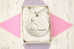 Abyssinian Cat Kitten Kitty Charm Stainless Steel Pendant Necklace with chain