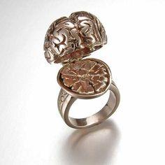 Silver Anatomical Brain Ring by PeggySkempJewelry on Etsy