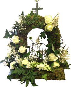Natural style Gates of Heaven - #floral #flowers #moonstones #ltd #fareham #florist #sympathy #tribute #gates #heaven #calla #roses