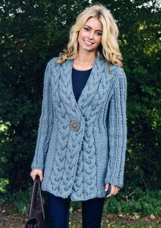 Cable Trim Jacket -- looks so warm!