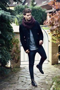 Street Style | Scarf | Raddest Men's Fashion Looks On The Internet: http://www.raddestlooks.org