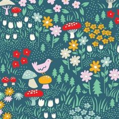 Tissu Coton Meadow Floral x 21 cm