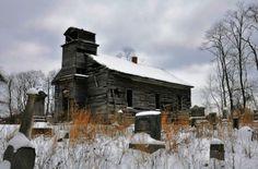 Old abandoned church & graveyard