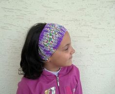 Crochet headband in lilac shades spring summer by KnitterPrincess, $12.90