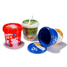 IML food container supplier in China. A manufacturer offer s butter container with IML decoration, ice cream Ice Cream Containers, Food Containers, Packaging Solutions, Plastic Packaging, Visit Website, Coffee Cans, Dairy, Bucket, Coconut