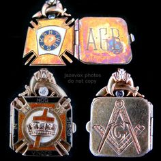 ANTIQUE Old MASON MASONIC MASONRY 14K Solid GOLD DIAMOND ENAMEL Necklace PENDANT $6,995 ..... we sell more VINTAGE and ANTIQUES COLLECTIBLE JEWELRIES at http://www.TropicalFeel.com