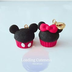 Mickey and Minnie cupcake! So Cute!!!♡ Etsy link in bio www.loadingcuteness.etsy.com Valentine Sale 20% OFF #polymerclay #polymer #clay #cute #kawaii #polymerclaycharms #craft #handmade #charm #progresskeeper #knitting #magic #pastel #waltdisney #mickeymouse #minniemouse #diy #plannercharm #premo #mickeyandminnie #disney #disneyfan #jewelry #sale #girly #sweet #jewelry #mickey #minnies