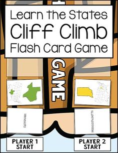 The Learn the States Cliff Climb Flash Card Game gives children an opportunity to practice U.S. states flash cards in a fun way.