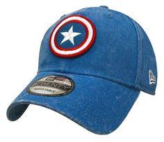 3e87aa6d16f New Era Marvel Mens Rugged Wash 920 Captain America Cap Hat Royal Red  80469931 Royal