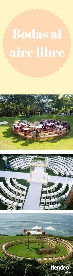 Si la boda de vuestros sueños consiste en celebrarla al aire libre (ya sea montaña, playa, jardín o un patio) no os perdáis estos tips básicos a tener en cuenta para la decoración del lugar. #boda #TiendeoBlog