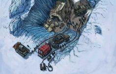 O delator do programa espacial secreto diz ter sido levado até a Antártica para ver as primeiras escavações científicas de ruínas de uma antiga civilização