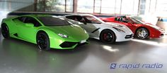 Lamborghini, Ferrari,Corvette at Rapid Radio