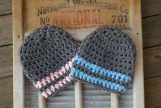 Twin Baby Hats Hat Boy Girl Twins Newborn by BellaMariesboutique