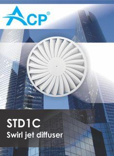 STD1C Swirl jet diffuser | Difuzor circular cu jet turbionar -------  | #hvac | #acp | #manufacturer | #ventilation | #products | #romania | #ventilatie | #griledeventilatie | #producator | #technology