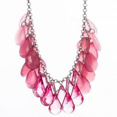 Teardrop Bib Necklace - don't usually like these but the pink won me over
