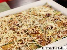 Carpaccio Eros with Zucchini, Pistachio, Pine Nuts, Parmesan. PHOTO Wendy Hung