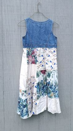 upcycled Dress / romantic Upcycled / Patchwork Dress by CreoleSha