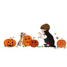 Ellis & Easy's 'Decorate Me' Halloween Pumpkins Wall Sticker