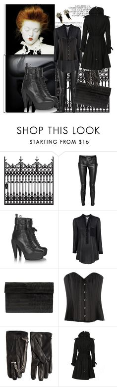 """""""Untitled"""" by luajane ❤ liked on Polyvore featuring Wall Pops!, Color My Life, Balmain, Burberry, Helmut Lang, Heidi Mottram, Myla, Emily Miranda, AllSaints and goth"""