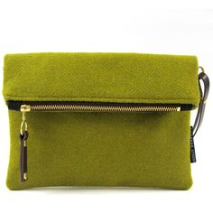 Catherine Aitken - Voyager Hip Acid Green ($98) ❤ liked on Polyvore featuring bags, handbags, clutches, special occasion clutches, evening handbags, cocktail purse, green purse and messenger purse
