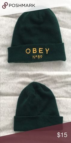 78293f1b117 Shop Women s Obey Green size OS Hats at a discounted price at Poshmark.