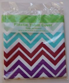 Chevron Plastic Table CoverCreative ConvertingWM723509 >>> You can get more details by clicking on the image. (This is an affiliate link)