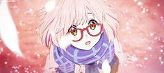 Kyoukai no Kanata. Mirai Kuriyama i watch this anime primarily for the animation it is so pretty but the plot is also good too