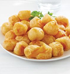 M&M Meat Shops - Cheddar Cheese Bites - Intense cheddar cheese flavour. Snack Recipes, Cooking Recipes, Snacks, Kitchener Ontario, Tempura Batter, Meat Shop, Food Retail, Northwest Territories, Cheese Bites