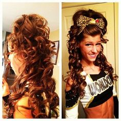 Toni from Shooting Stars has GORGEOUS HAIR! best cheer hair out there! Toni from Shooting Stars ha Cheer Hair, Cheer Bows, Kahleesi Hair, High Hair, Long Hair, Love Your Hair, Gorgeous Hair, Beautiful, Pretty Hairstyles