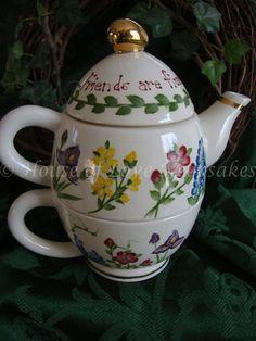 TEAPOT Tea for One  Floral Bouquet)