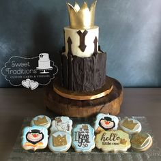 Wild Things rustic cake with coordinating cookies Rustic Cake, Sweet Memories, Wild Things, Custom Cakes, Cake Cookies, Sweet Treats, Traditional, Baking, Personalized Cakes