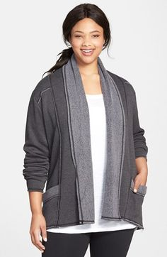 e331b412541 Hard Tail Slouchy Knit Cardigan (Plus Size)