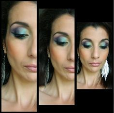 Suite de mon MU  avec les fards @makeupgeektv  - Bling  - Shimmermint  - Mermaid  - Peacock - Envy  - Duchess - Fairytale - Unexpected