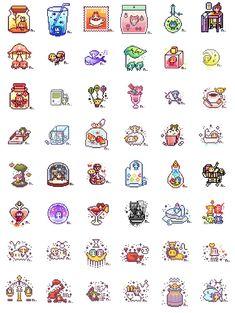 Cool Pixel Art, Anime Pixel Art, Pixel Art Food, Pix Art, Iphone Wallpaper App, Kawaii Doodles, Phone Themes, Perler Bead Art, Perler Beads