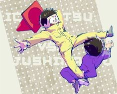 Ichimatsu vs Jyushimatsu: Prob Jyushi cos of his unnatural strength All Anime, Anime Love, Anime Guys, Anime Stuff, Bear Makeup, Osomatsu San Doujinshi, Gakuen Babysitters, Gekkan Shoujo Nozaki Kun, Ichimatsu