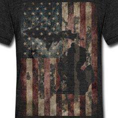 Michigan USA Flag shirt @ www.downwithdetroit.com  #Detroit #Michigan