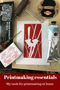 Printmaking essentials - a run-down of the supplies I use for block printing at home (Part 1) - Little Rowan Redhead
