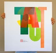 wood type poster by Dennis Ichiyama...