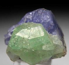 Tsavorite on Tanzanite