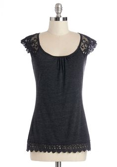 Work Top & Blazers - Grace and Lace Top in Charcoal