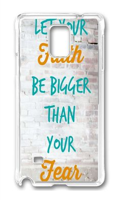 Amazon.com: Samsung Note 4 Case DAYIMM Let Your Faith be Bigger Than Your Fear Quote Transparent PC Hard Case For Samsung Note Phone Case: Electronics http://www.amazon.com/Samsung-DAYIMM-Faith-Bigger-Transparent/dp/B01546CGUQ/ref=sr_1_2754?s=electronics&ie=UTF8&qid=1442194487&sr=1-1&keywords=Best+Samsung+Note+4+Case