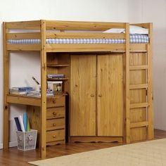 The space saving beds that feature convenient storage are perfect solutions for small bedroom designs. Intelligent home storage ideas create airy and pleasant rooms. Cheap Bunk Beds, Bunk Beds Small Room, Bunk Bed With Desk, Kids Bunk Beds, Small Rooms, Small Spaces, Loft Bed Plans, Murphy Bed Plans, Bunk Bed Designs